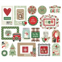 Simple Stories Merry & Bright Christmas Tags & Frames Die-Cut Cardstock Pieces 10324