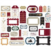 Echo Park Witches & Wizards 2 Frames & Tags Ephemera Die Cut Cardstock Pieces WIW247025