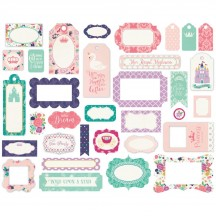 Echo Park Once Upon a Time Princess Tags & Frame Ephemera Die Cut Cardstock Pieces OUG22021