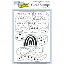 "The Crafters Workshop When it Rains 4""x6"" Clear Stamps TCW2204"