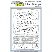 "The Crafters Workshop Sprinkle Kindness 4""x6"" Clear Stamps TCW2205"