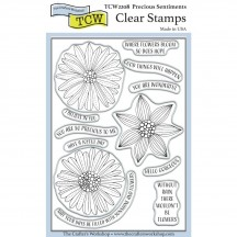 "The Crafters Workshop Precious Sentiments 4""x6"" Clear Stamps TCW2208"