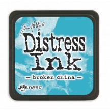 Ranger Tim Holtz Broken China Mini Distress Ink Pad TDP39877 blue