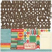 "Echo Park Teacher's Pet 12""x12"" Alpha Letter Stickers TP90015"