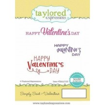 Taylored Expressions Simply Said Valentine Cling Rubber Stamp Set TEALC122