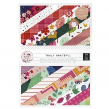 "Pink Paislee Paige Evans Truly Grateful 6""x8"" Specialty Paper Pad 36 Sheets 310878"