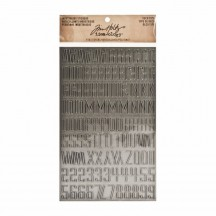 Tim Holtz Idea-ology Industrious Deco Type Stickers - TH93090