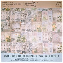 "Tim Holtz Idea-ology Wallflower Vellum 12""x12"" Paper Stash TH93148"