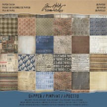 "Tim Holtz Idea-ology Dapper 12""x12"" Paper Stash TH93260"