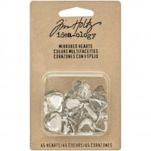Tim Holtz Idea-ology Findings - Mirrored Hearts TH93269