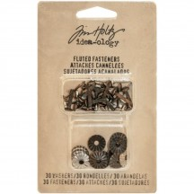 Tim Holtz Idea-ology Fluted Fasteners TH93273