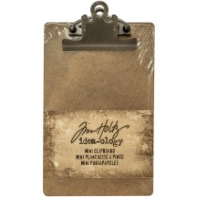 Tim Holtz Idea-ology Mini Clipboard - Brown TH93278