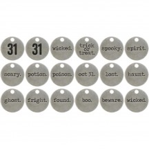 Tim Holtz Idea-ology Typed Tokens - Halloween TH93601