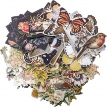Tim Holtz Idea-ology Layers Botanical Die Cut Ephemera Pack TH93554