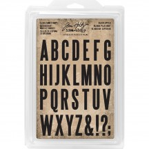 Tim Holtz Idea-ology Cling Foam Stamps Block Upper TH93577