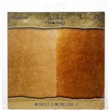 "Tim Holtz Idea-ology Metallic 2 8""x8"" Kraft Stock TH93780"