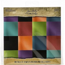 "Tim Holtz Idea-ology Metallic Jewels 8""x8"" Kraft Stock TH93781"