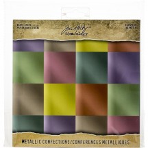 "Tim Holtz Idea-ology Metallic Confections 8""x8"" Kraft Stock TH93784"