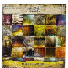 "Tim Holtz Idea-ology Abandoned 8""x8"" Paper Stash TH93962"