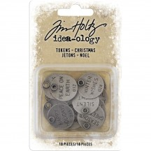 Tim Holtz Idea-ology Christmas Typed Tokens TH93997