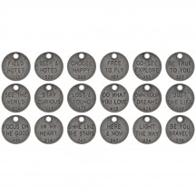Tim Holtz Idea-ology Thought Tokens Metal Adornments TH94024