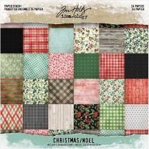 "Tim Holtz Idea-ology Christmas 8""x8"" Paper Stash TH94085"