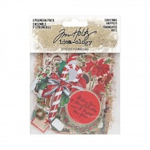 Tim Holtz Idea-ology Christmas Snippets Die Cut Ephemera Pack TH94087
