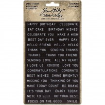Tim Holtz Idea-ology Sentiments Label Stickers TH94121