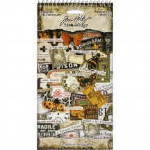 Tim Holtz Idea-ology Curiosities Halloween Sticker Book TH93969