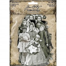 Tim Holtz Idea-ology Paper Dolls Halloween Ancestors Die Cut Ephemera Pack TH93973