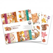 "P13 The Four Seasons Autumn 6""x6"" Designer Paper Pad P13-AUT-09"