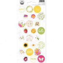 P13 The Four Seasons Summer Circle Icon & Phrase Stickers 03 P13-SUM-13