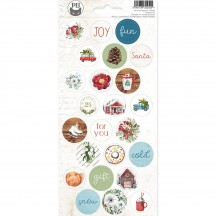 P13 The Four Seasons Winter Circle Icon & Phrase Stickers P13-WIN-13