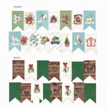 P13 The Four Seasons Winter Garland Die-Cut Cardstock P13-WIN-32
