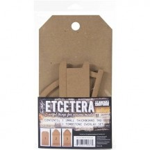 Tim Holtz Etcetera Tombstone Tag and Overlay Set THETC006