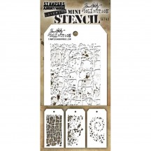 Tim Holtz Mini Layering Stencil Mask Set #43 THMST043
