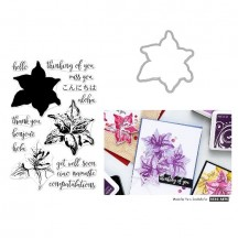 Hero Arts Color Layering Tiger Lily Clear Stamp & Die Set