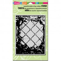 Stampendous Cling Stamp - Tin Panel Background CRR146