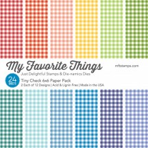 """My Favorite Things Tiny Check 6""""x6"""" Paper Pack"""