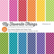 """My Favorite Things Tiny Hearts Brights 6""""x6"""" Paper Pack"""