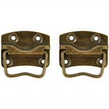 Kaisercraft Treasures Metal Case Handles - Antique Brass TM810