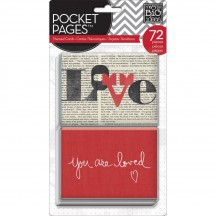 Me & My Big Ideas You Are Loved Pocket Pages Themed Cards TPC-27
