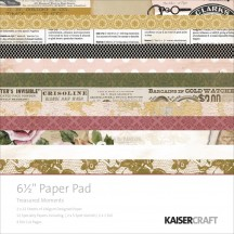 "Kaisercraft Treasured Moments 6.5""x6.5"" Specialty Paper Pad PP987 40 Sheets"