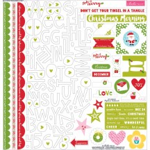 "Bella Blvd Make It Merry 12""x12"" ChristmasTreasures & Text Stickers 1079"