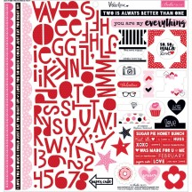 "Bella Blvd Valentina 12""x12"" Treasures & Text Stickers 1088"