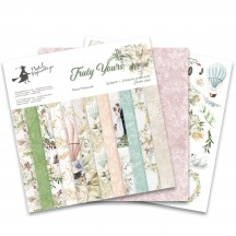 "P13 Truly Yours Wedding 12""x12"" Scrapbook Paper Pad P13-TRU-08"