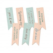 P13 Truly Yours Wedding Cardstock Decorative Tags 02 P13-TRU-22