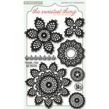My Mind's Eye Clear Stamp Set - The Sweetest Thing Lavender - Cutie Pie