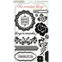 My Mind's Eye The Sweetest Thing Bluebell Remember Clear Stamp Set