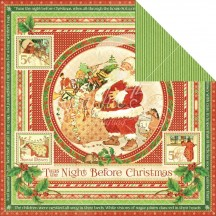"Graphic 45 Twas the Night Before Christmas Double-sided 12""x12"" Cardstock 4500986"